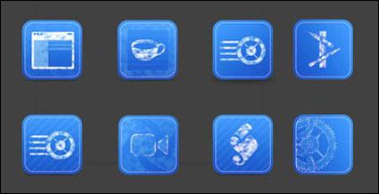 Синий печать иконки png