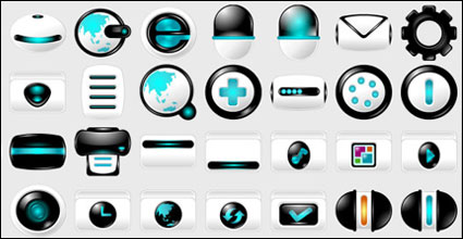 Blau Computer Hightech-Material PNG-Icon