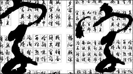 Calligraphie de vecteur chinoise