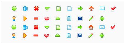 Web design ícones pequenos gif