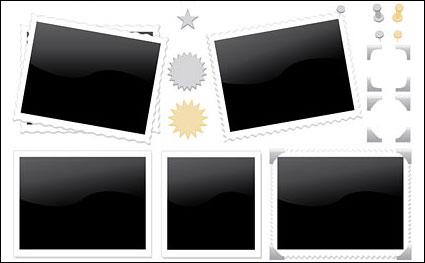 Matériau vecteur de photo timbres icône