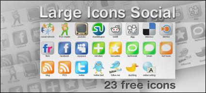 web2.0 iconos grandes