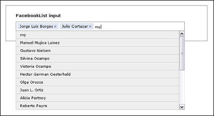 JQuery-basierte Multiple-Choice-Textfeld (JS + CSS)