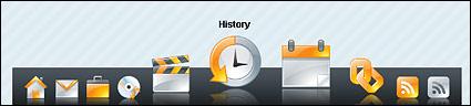 CSS + JS достичь на панели навигации системы Макинтош MAC OS (ослепляющего + реалистичные)