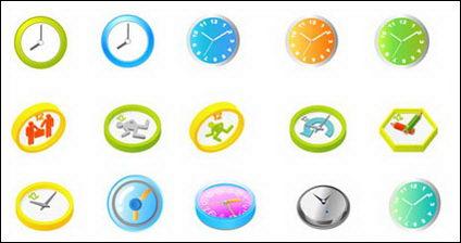 Horloge vecteur matériel