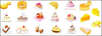Cheese cake dessert Vector material
