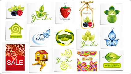Vecteur d'icônes de fruits