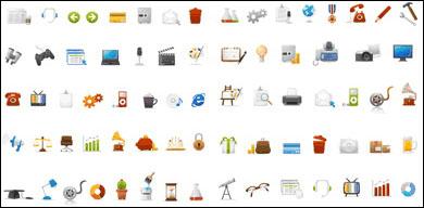 Vector de iconos de web simple y práctico