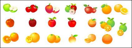 Naranjas manzanas vectoriales