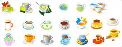 Las plantas, el té y el café Vector