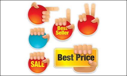 Icono de gestos venta de material de vectores