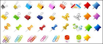 Vector de clips y pasadores