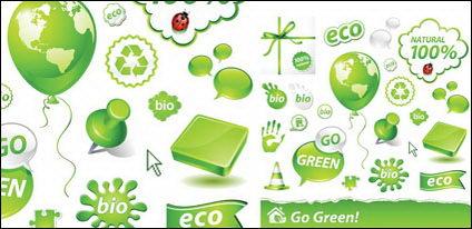 Iconos de Vector verde