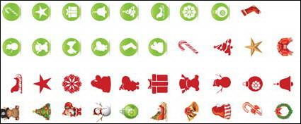 Vector de iconos de Navidad