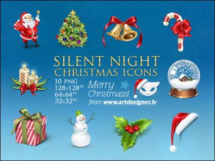 촛불, 지팡이, 벨, 눈사람 크리스마스 트리 png