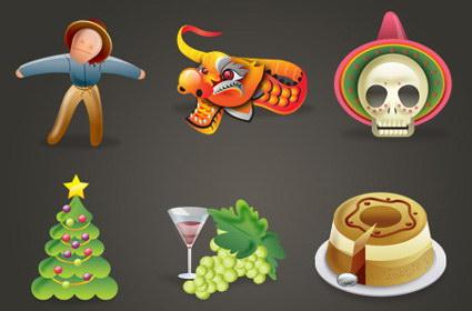 Праздник икона - пугало, вино, новогодние елки, драконы, торт