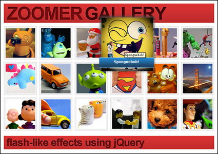 नकली विस्तार करने के लिए jQuery कोड फ़्लैश फोटो एल्बम के आधार पर