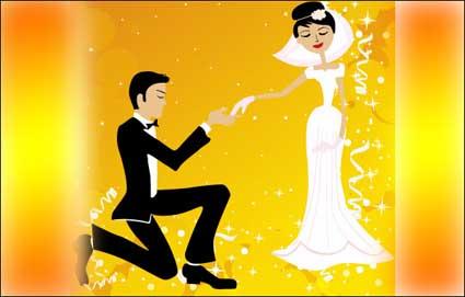 งานแต่งบนเวกเตอร์วัสดุ
