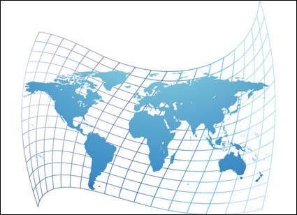Искаженная карта мира вектор