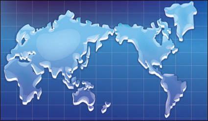Carte de texture cristalline du vecteur du monde