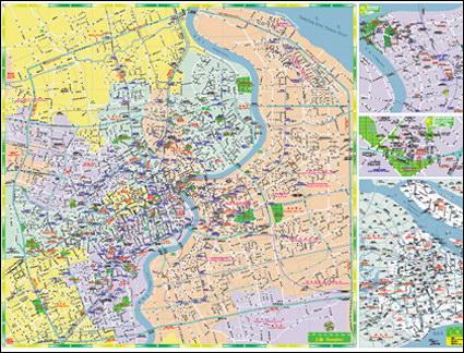 Векторная карта Шанхая