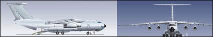 Material de vectores de aviones de pasajeros