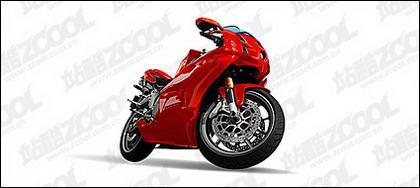 ไอรถจักรยานยนต์สีแดงสดใสเวกเตอร์วาดวัสดุ