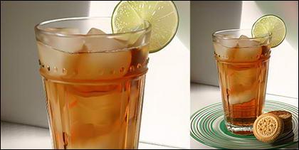 AI dibujo realista de hielo material de vectores de té de limón