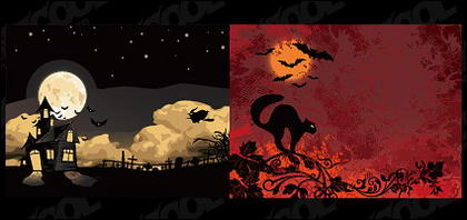 Matériau d'illustrations vectorielles Halloween