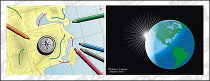 Mapa del material de cdr vector de tierra