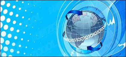 Sciences de la terre et de la technologie thème vecteur illustrations matériel