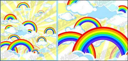 Matériau d'illustrations vectorielles arc-en-ciel Lovely