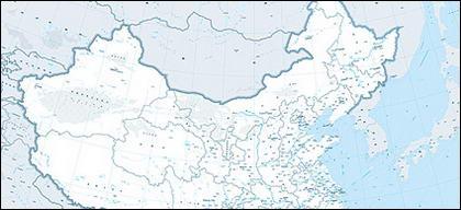 Mapa chino de 1:400 millones (versión de envío de navegación)