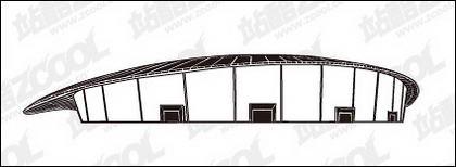 Matériau de vecteur de badminton Hall