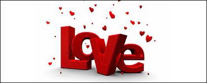 Modélisation tridimensionnelle de Love 3D word image