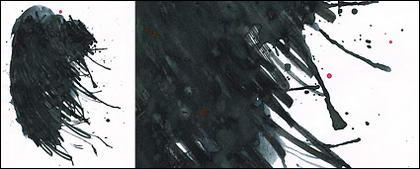 ก่อนหมึก watercolor ภาพวัสดุ-045