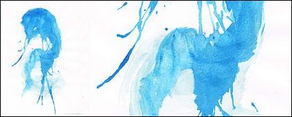 ก่อนหมึก watercolor ภาพวัสดุ-043
