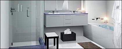 Простой ванной яркие картины материал