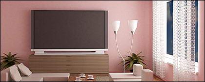 Мода розовой гостиной фотография материал
