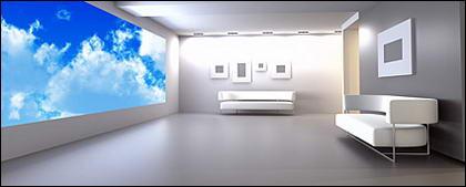 순수한 흰색 인테리어 그림 자료