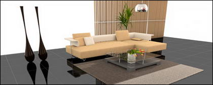 Sala de estar de moda material de imagen de vista