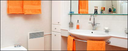 Couleurs de la mode correspondant le matériel photo de salle de bain