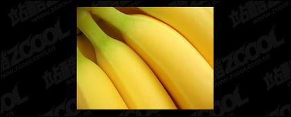 Banana destacada calidad imagen material-3