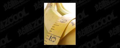 Banana destacada calidad imagen material-6