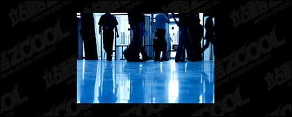 Bandar Udara jejak gambar materi dalam tergesa-gesa