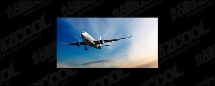 Полет самолета картина материала