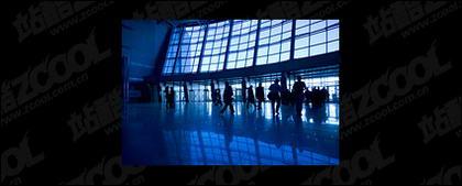 Material de imagem do aeroporto hall