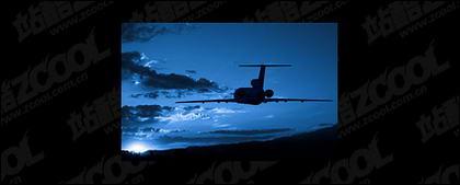 Полет самолета картина материала-2