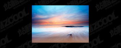 El mar al atardecer foto material