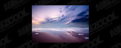 El mar al atardecer foto material-3
